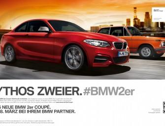 Startschuss für die BMW 2er Coupé Kampagne.