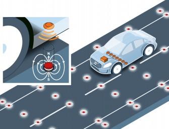 Volvo testet Fahrbahnmagnete