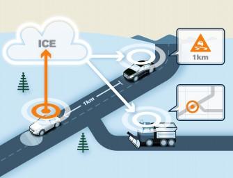 Volvo Pilotprojekt zu cloud-basierter  Kommunikation macht das Autofahren sicherer