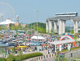 Historische Rennwagen auf dem Toyota Classic Car Festival 2015