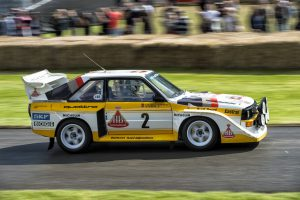 Walter Röhrl driving the Audi Sport quattro S1 from 1985.