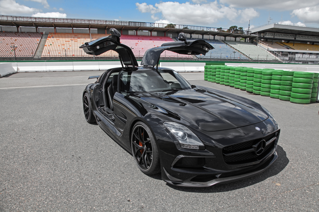 sls amg auf black series umbau motor sport news. Black Bedroom Furniture Sets. Home Design Ideas